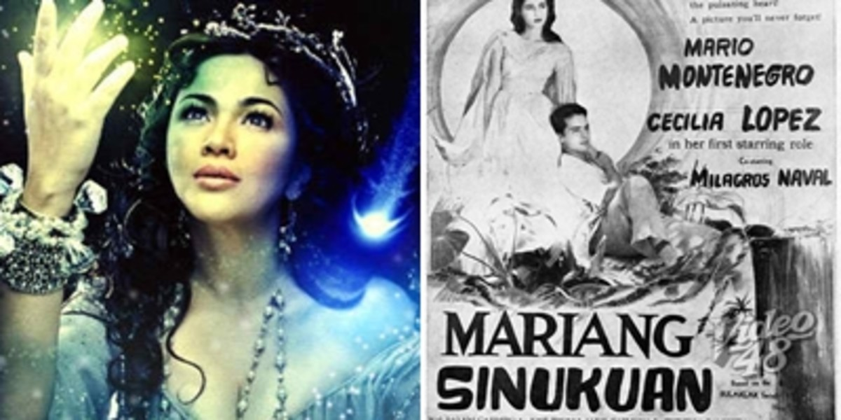 Actress Mickey Ferriols as Sinyang or Sinukuan in Dyosa (goddess) TV show, and the 1955 movie titled Mariang Sinukuan.
