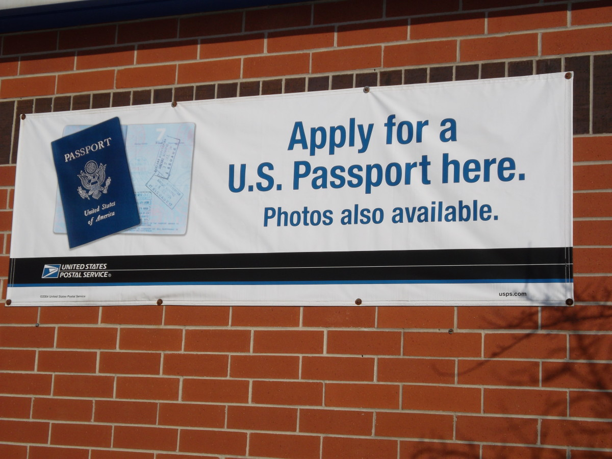A completed passport application can be brought to a passport acceptance facility such as the post office. Passport photos can also be taken at many post offices.