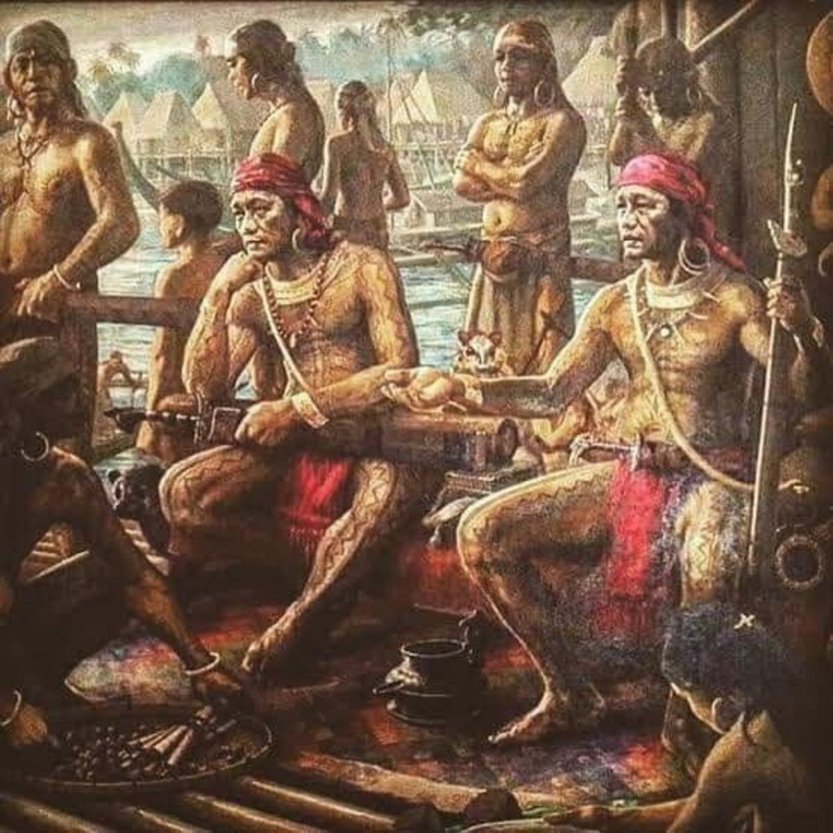Tabo by S.A. Tutor, depicting the brothers Da'Ilisan and Pagbuaya who ruled the ancient kingdom of Dapitan (now Dauis and Tagbilaran in Bohol) in pre-colonial Visayas.