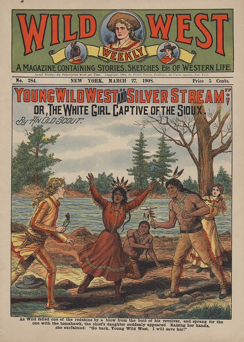 Popular pulp fiction magazines were the jumping off point for the early Westerns.