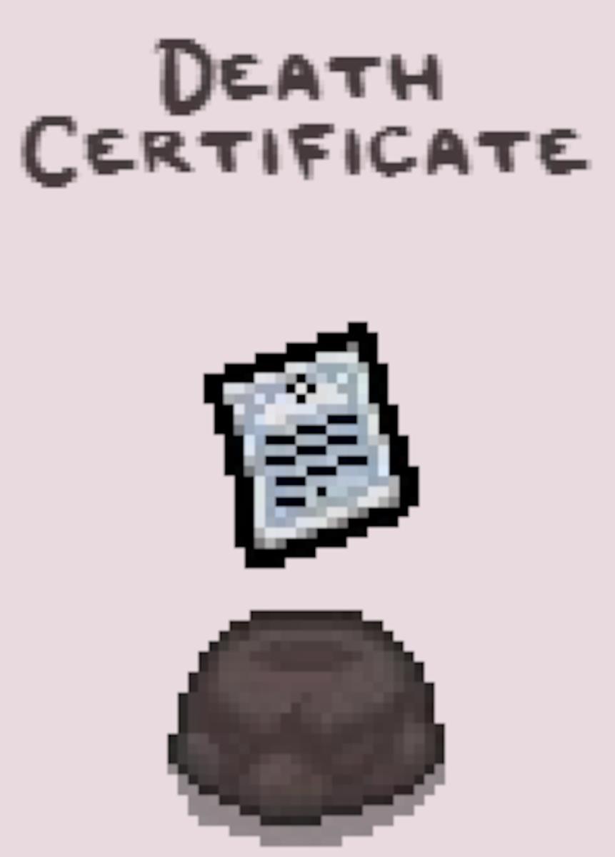 Death Certifcate.