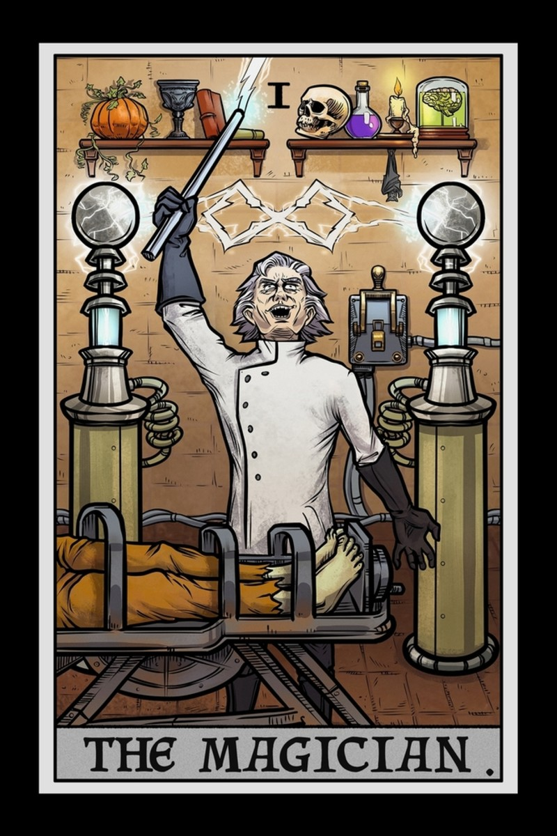 The Magician can look like a mad scientist. The Magician is always on the brink of discovery.