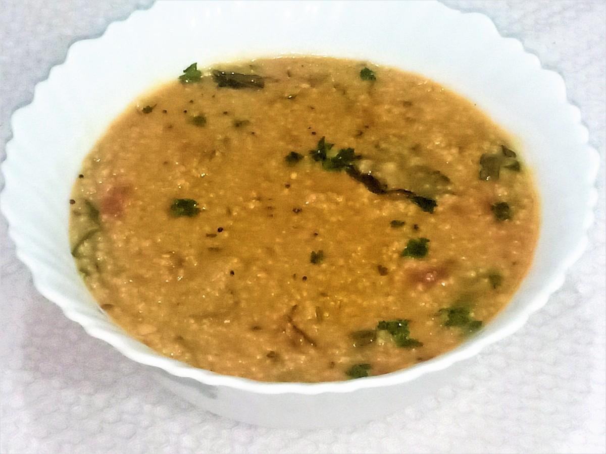 Millet ganji (porridge)