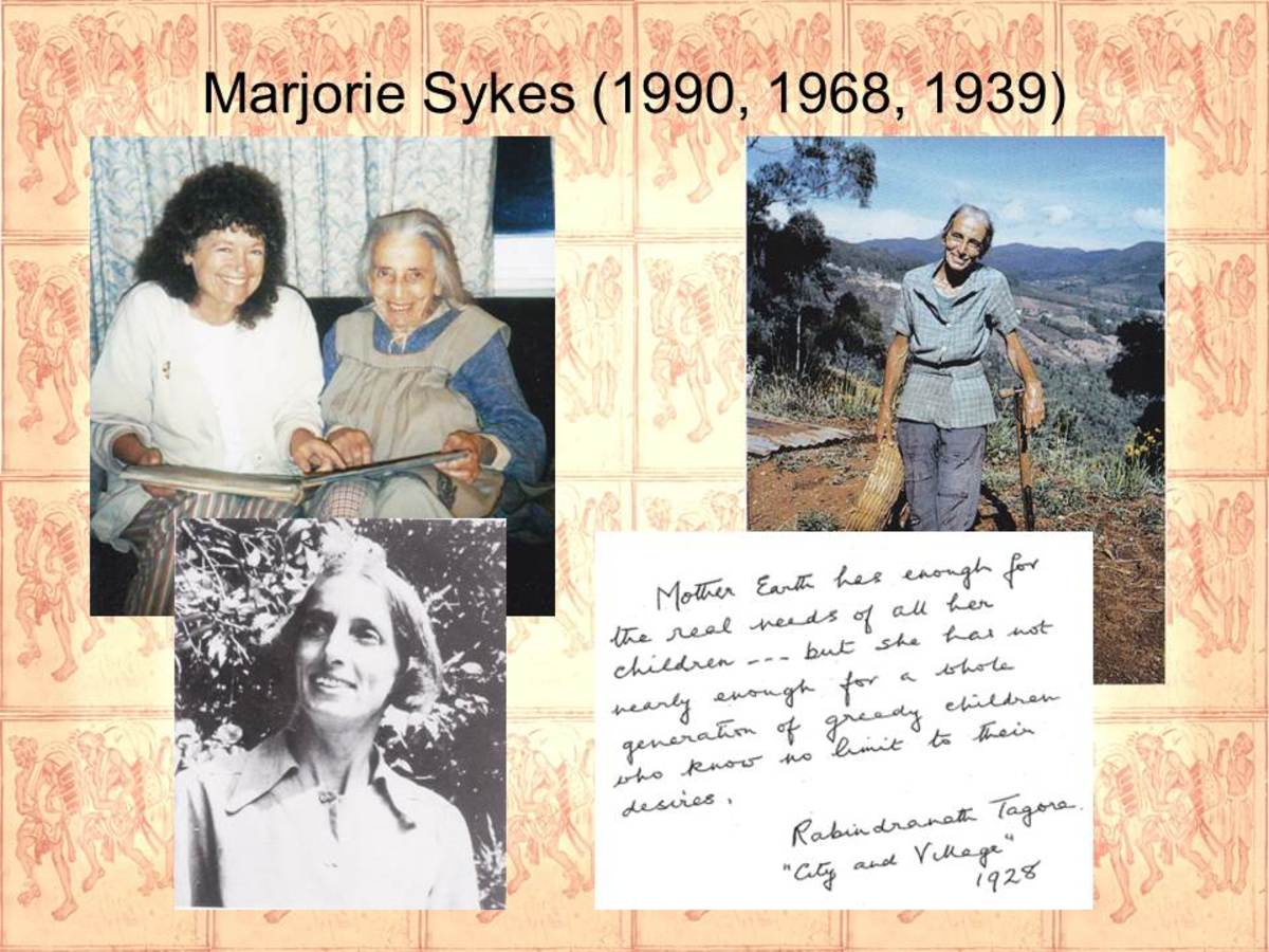 Marjorie Sykes's pictures with a note from Rabindranath Tagore