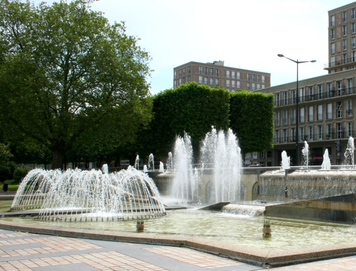 Fountains in the Town Hall gardens