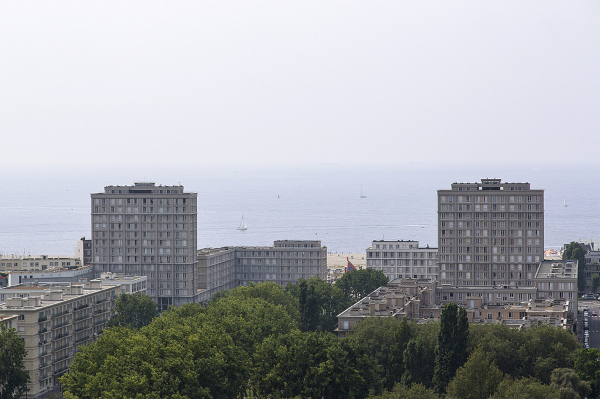 A panorama showing the Porte Océane