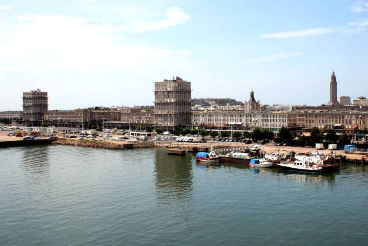 The Le Havre waterfront.