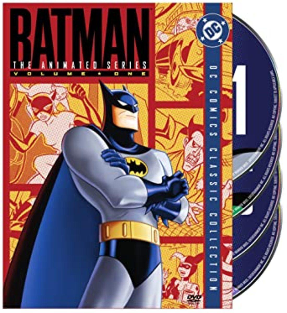 """Batman: The Animated Series"" Season 1 DVD cover art."
