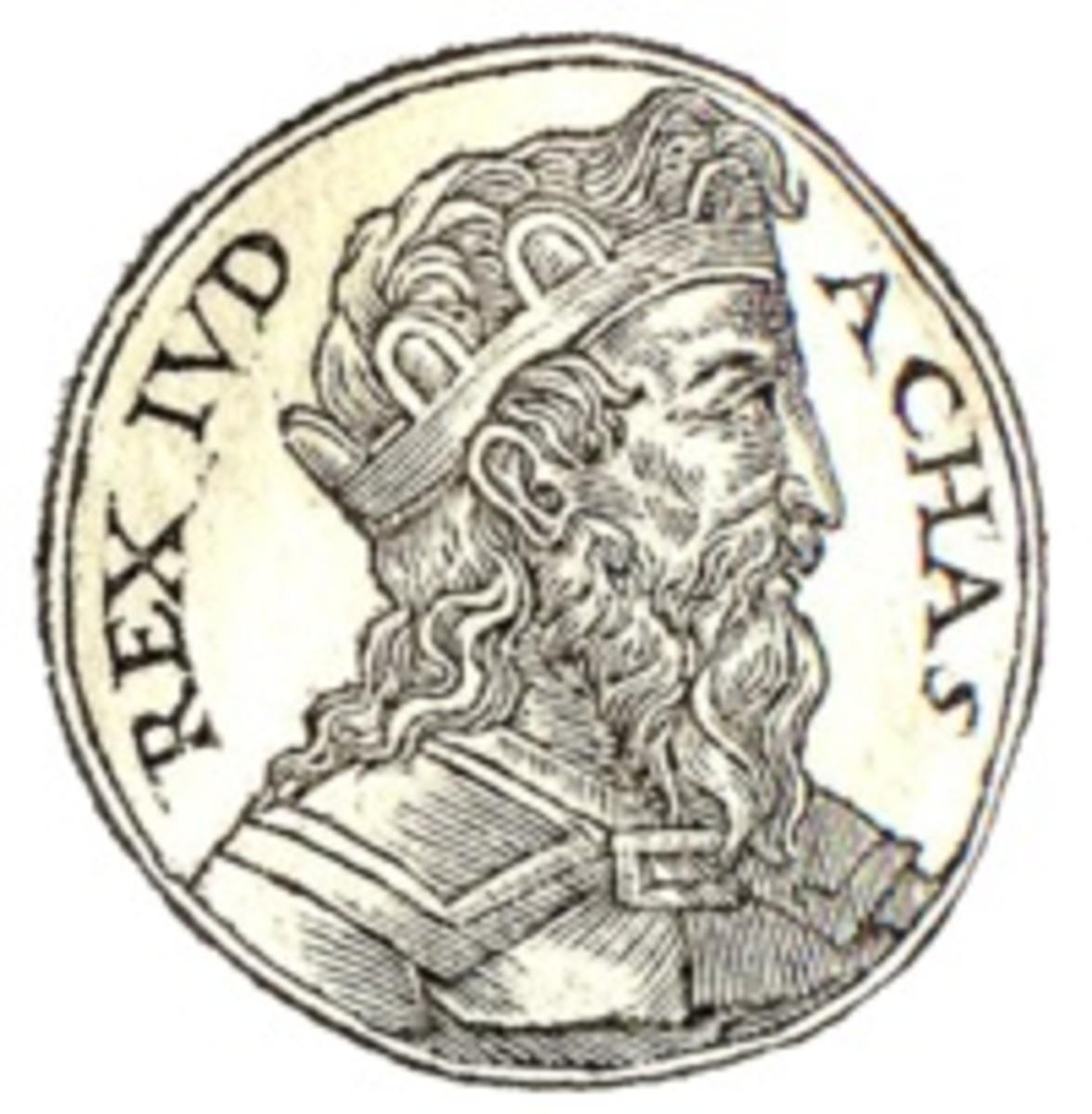 Ahaz from Guillaume Rouill's Promptuarii Iconum Insigniorum
