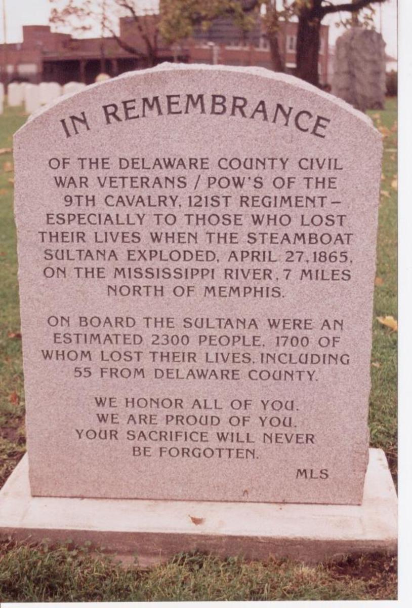Sultana Disaster Monument - Beech Grove Cemetery, Muncie, IN