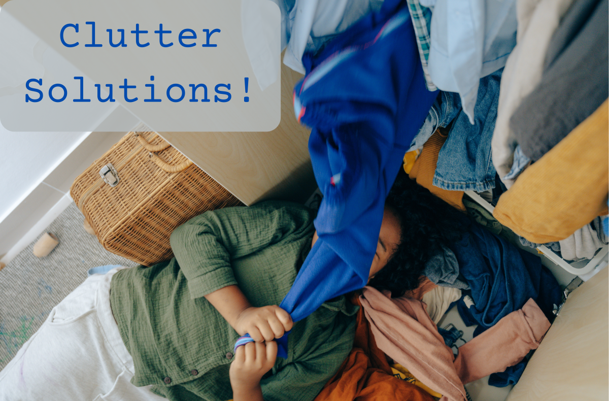 Clean out your clutter and donate to charity. Win-win!