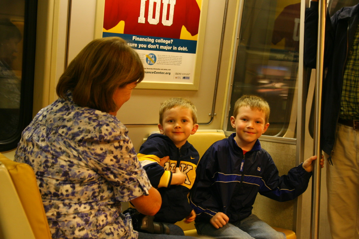 Riding the metro is a fun—and efficient—way to get around Washington, D.C. with kids.