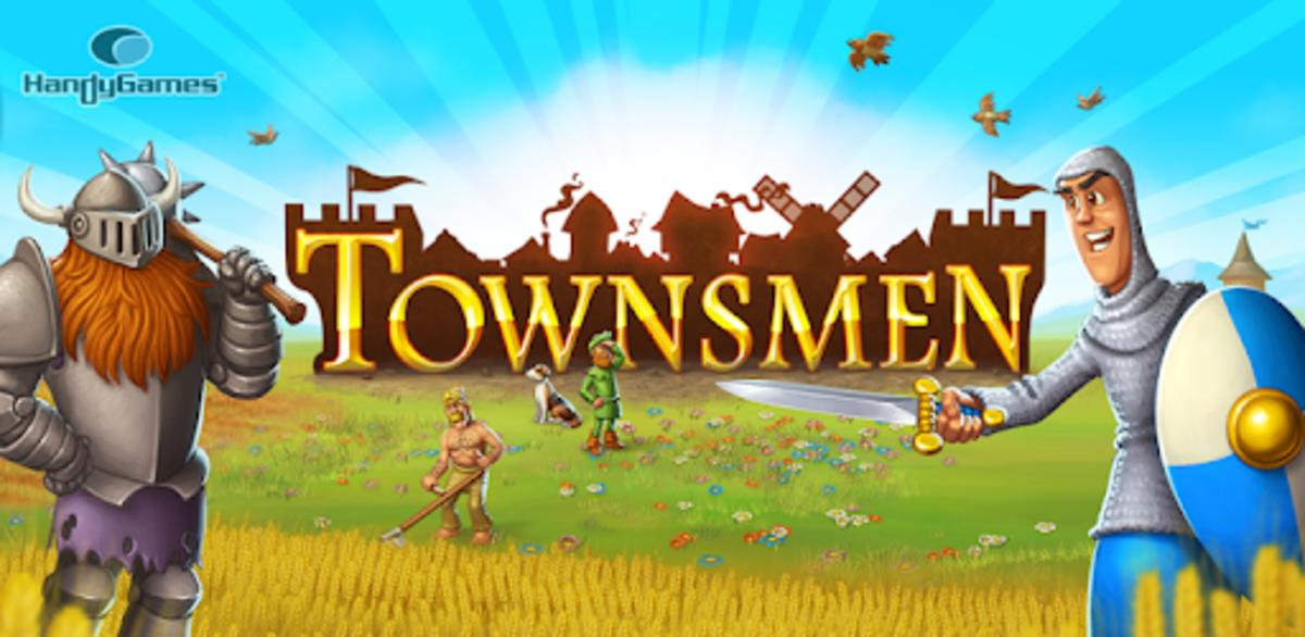 """""""Townsmen"""" feature art."""
