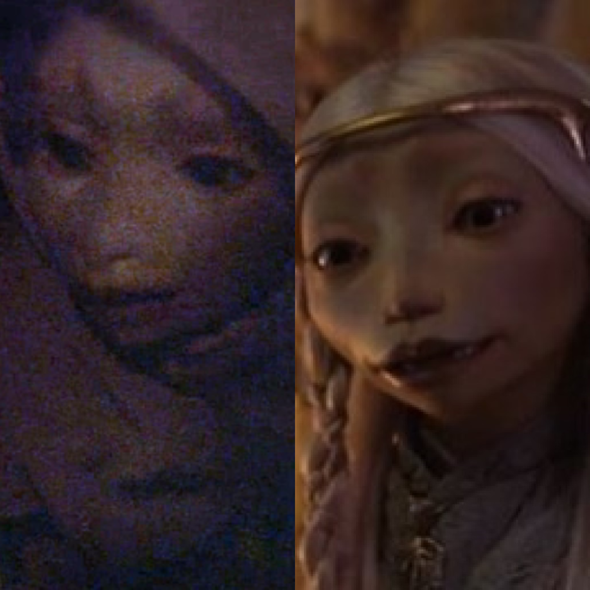 L to R:  Kira's mom from the movie, and Brea from the series.
