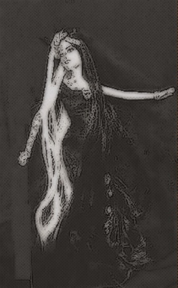 The Goddess Hel often welcomed the dead to her vast realm.
