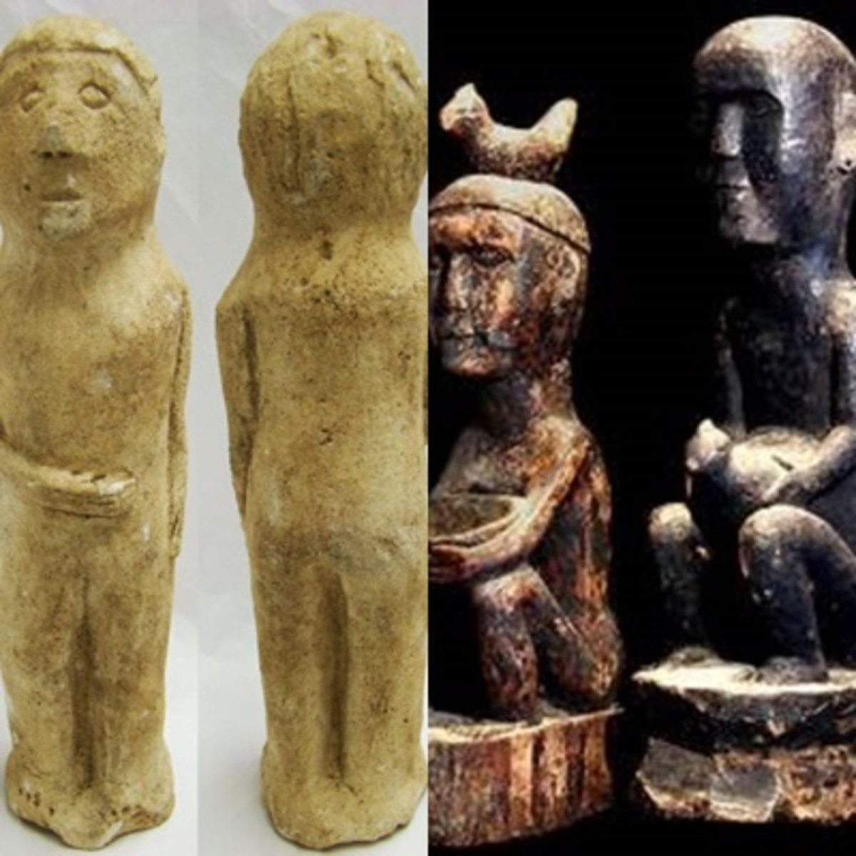 Pre-colonial liantio idols, and the wooden bulul idols of the Ifugao.
