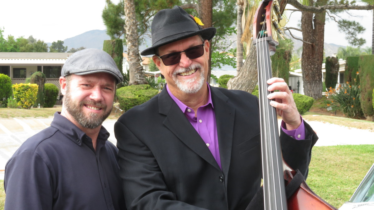 Eric Darling and Eric Bender are the Jazz duo, Parish Lantern