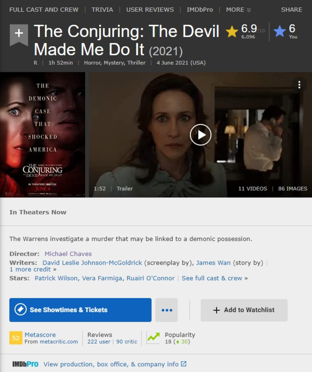 Not even the writers on IMDb cared...
