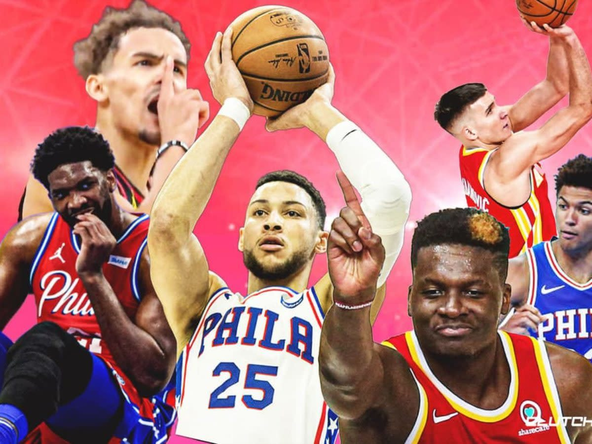 The first seeded 76ers will play the fifth seeded Hawks.