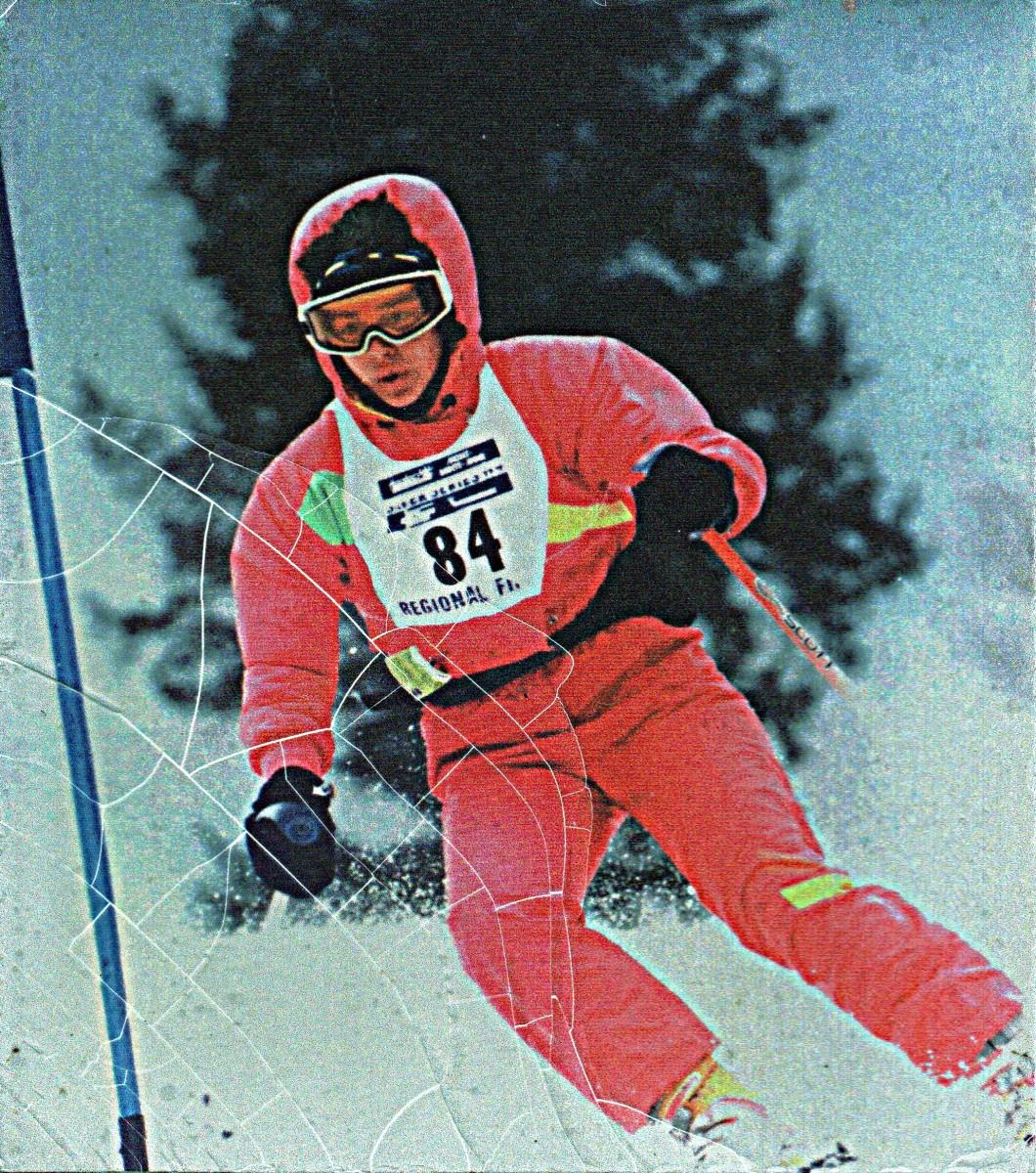 Author at Hunter Mountain amateur ski race.