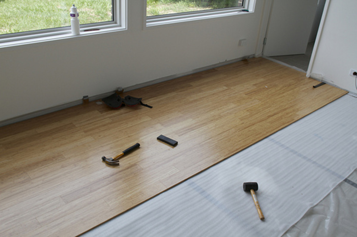 Remove old carpet and replace  it with bamboo, sustainable hardwood or tile to give your room an updated and clean look.
