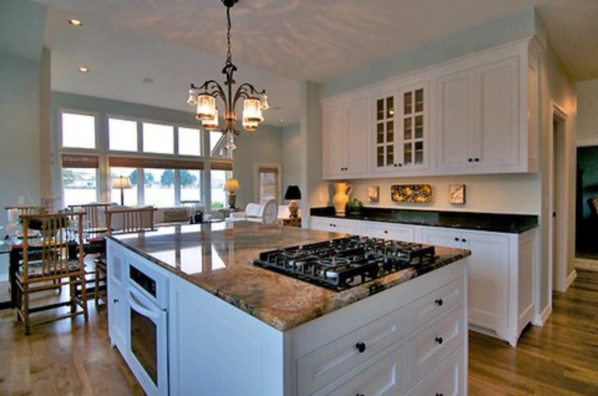A new countertop or lighting can change the entire look of a kitchen.