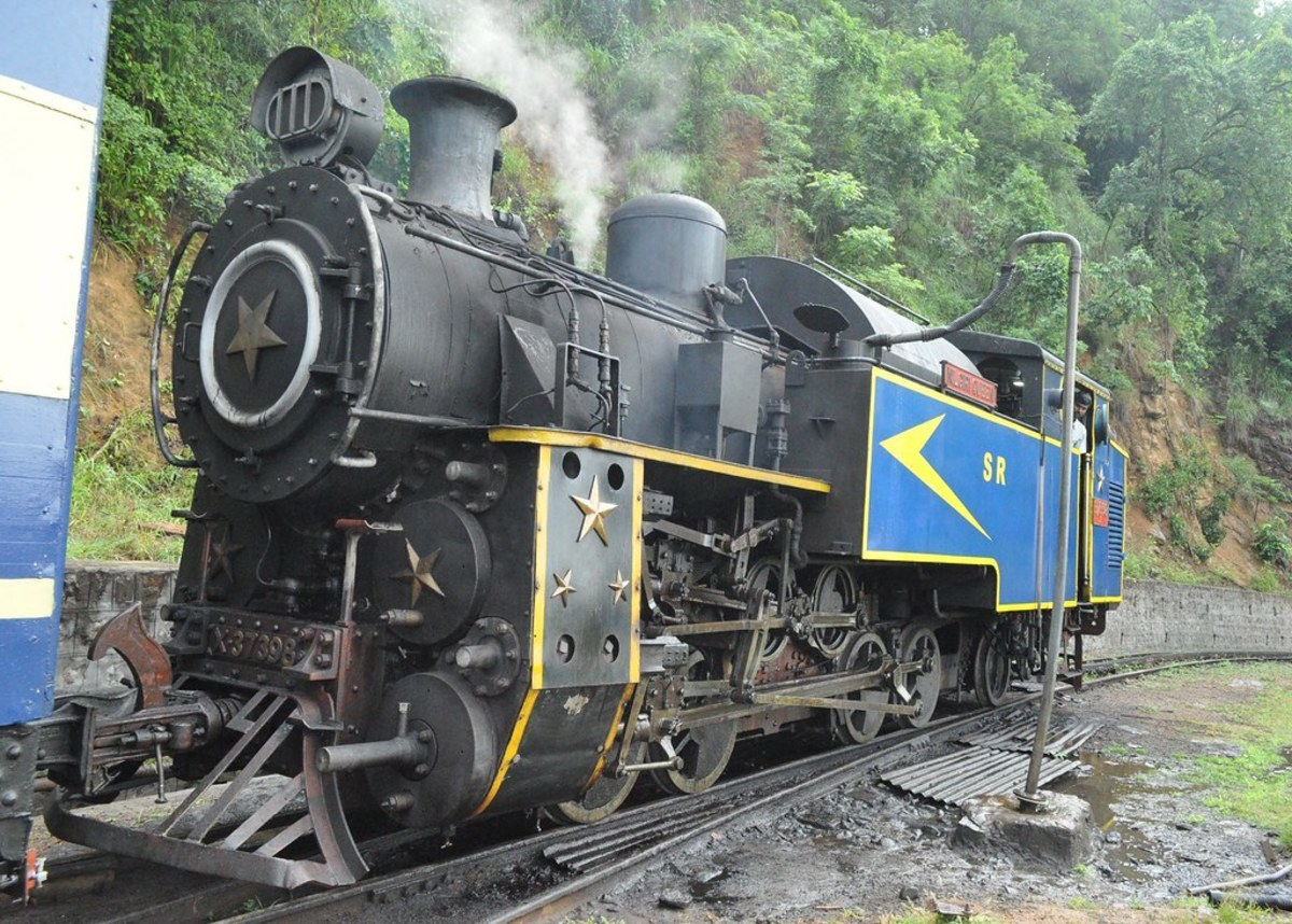 Earlier steam engine used on Nilgiri Mountain Railway