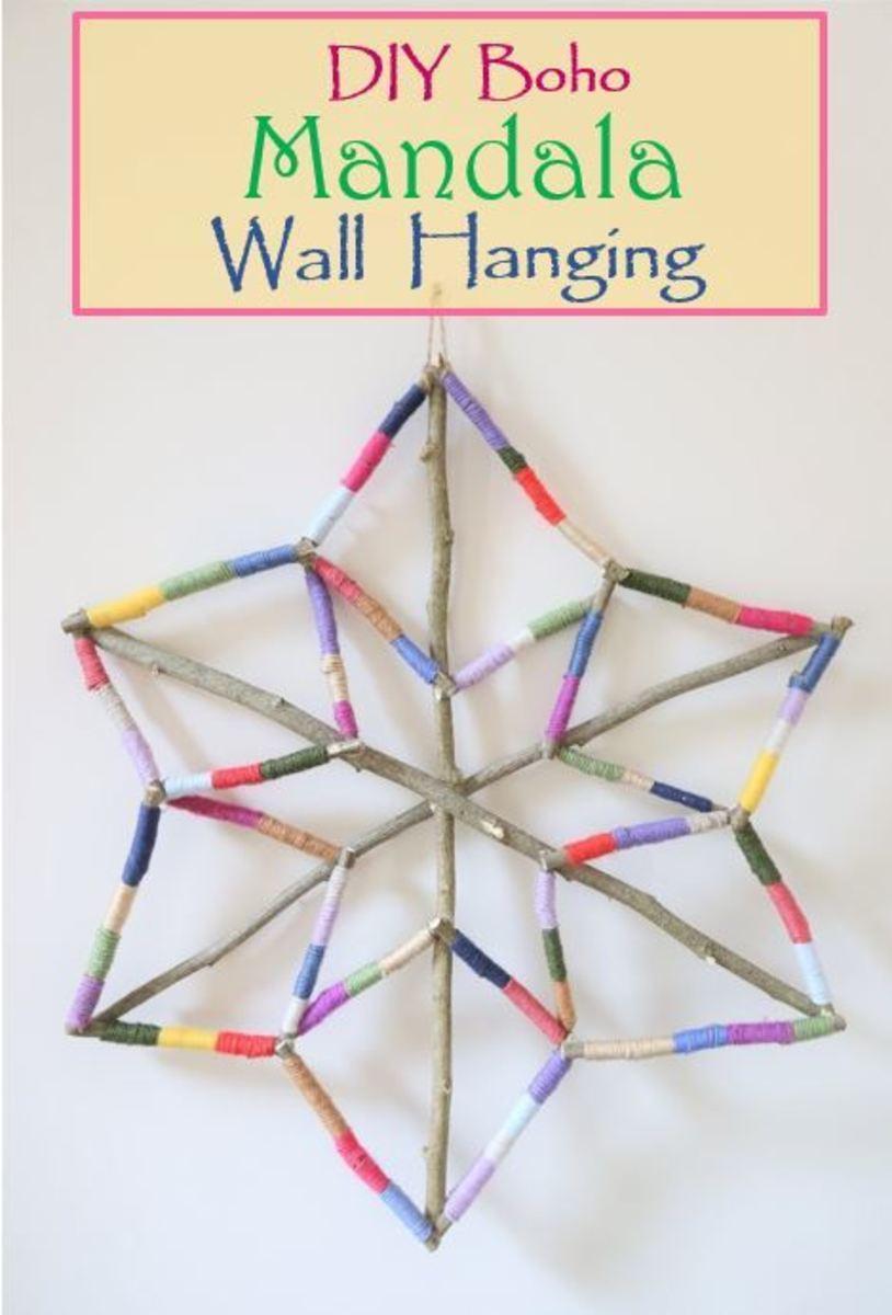 DIY Craft Tutorial: How to Make a Boho Mandala Wall Hanging