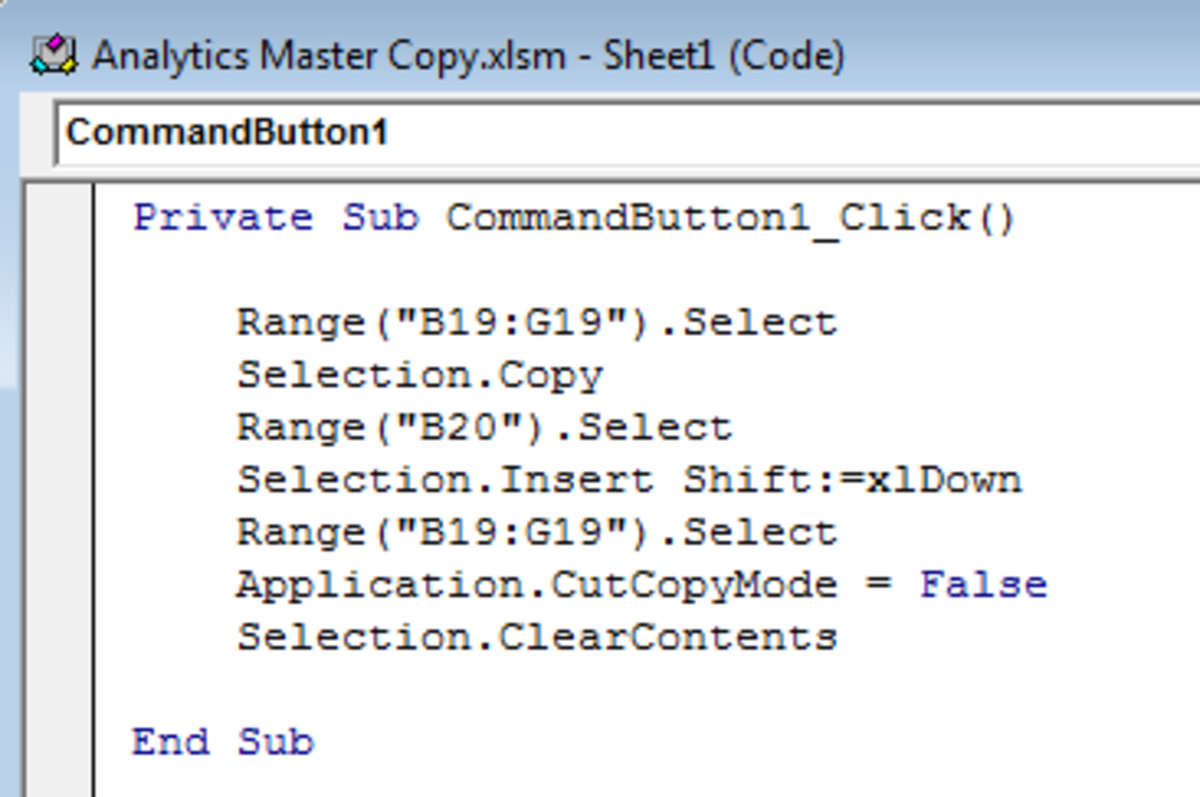 Final code to be added to a Command Button in Excel 2007 or Excel 2010.