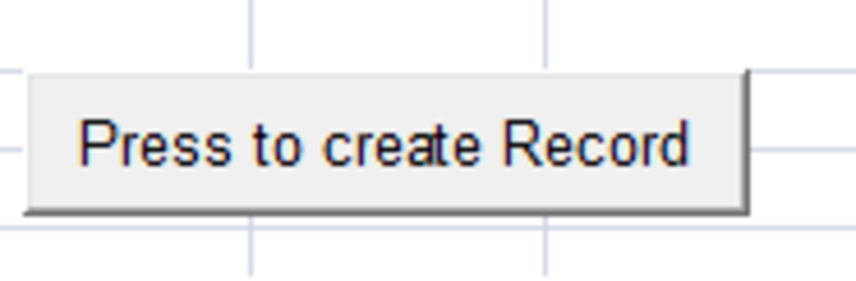 Example of a Command Button created using Excel 2007 and Excel 2010.