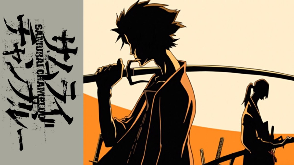 From Manglobe studios.  Samurai Champloo was a 2004 anime series that blended historical Japan with hip hop themes.  Its a classic image of cross cultural fascination.