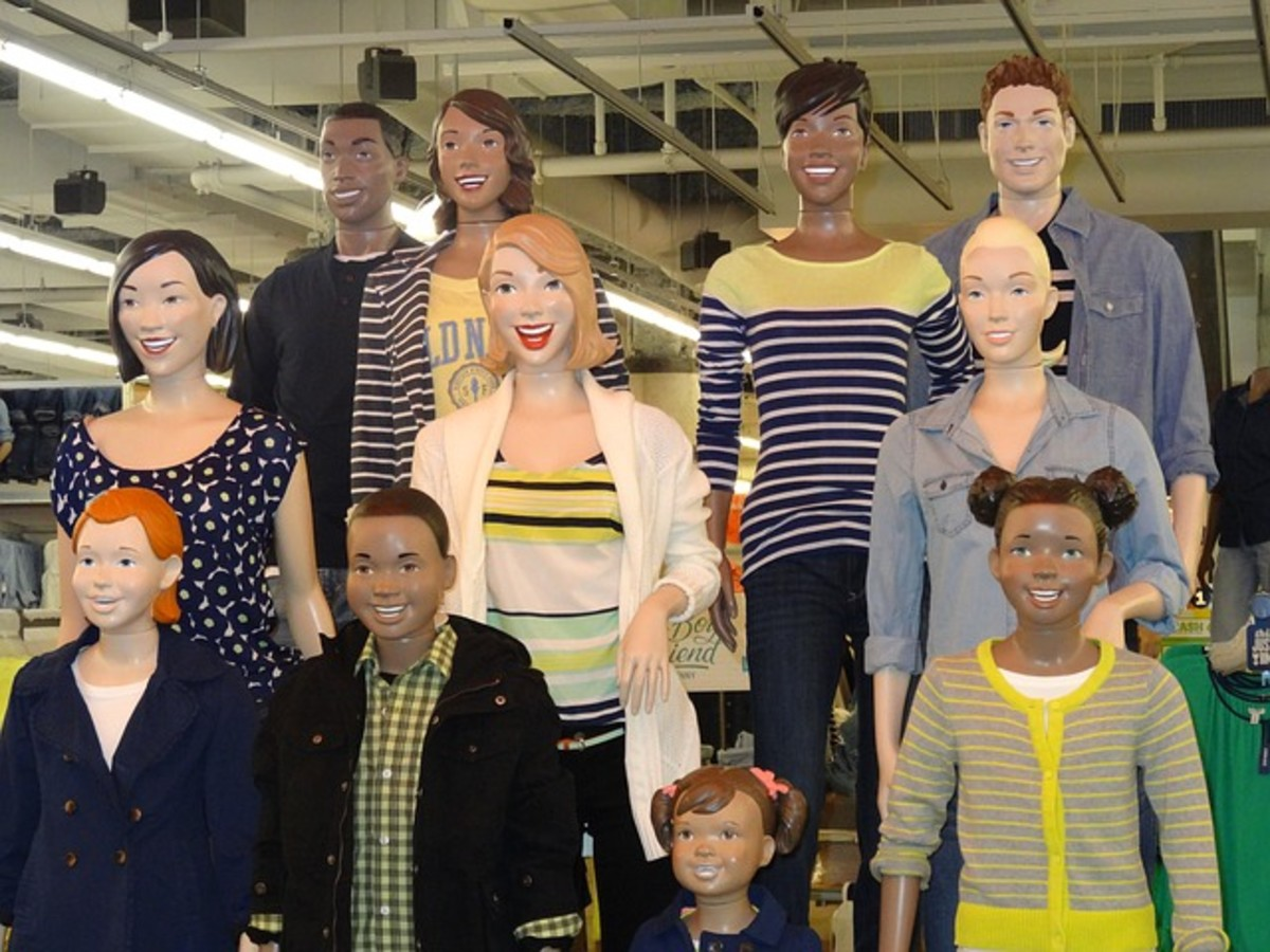 A favorite collection of Old Navy characters.