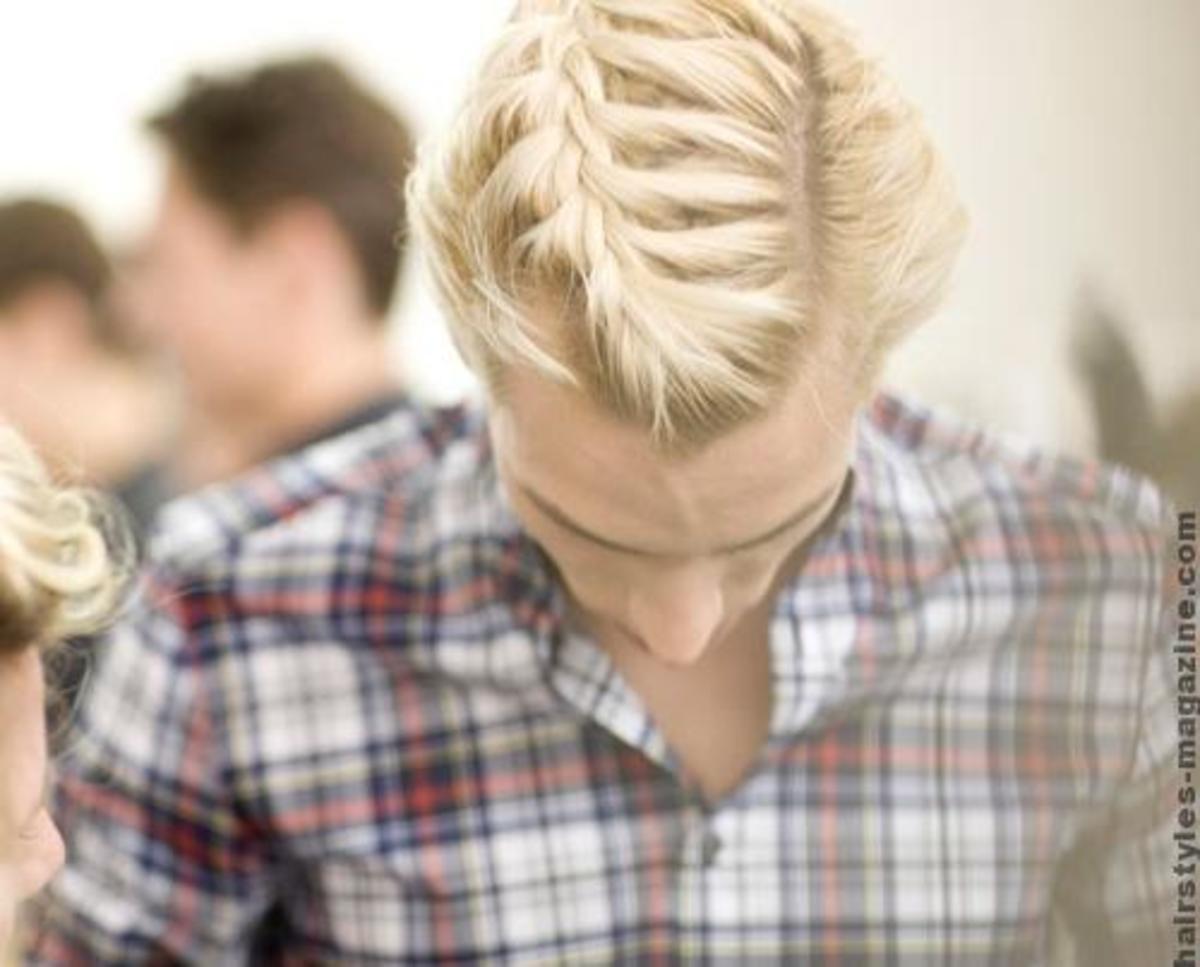 Beautiful braid for blonde men