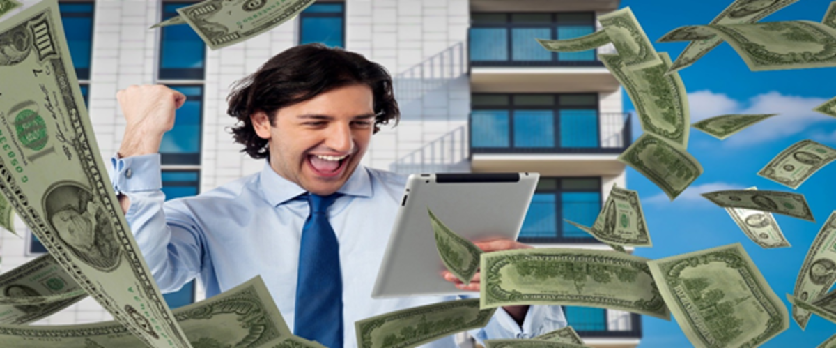 An affiliate marketer enjoying passive income