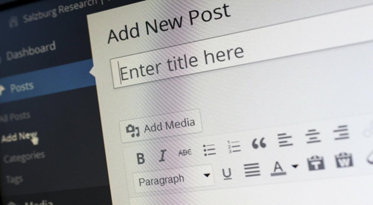 A WordPress blog interface