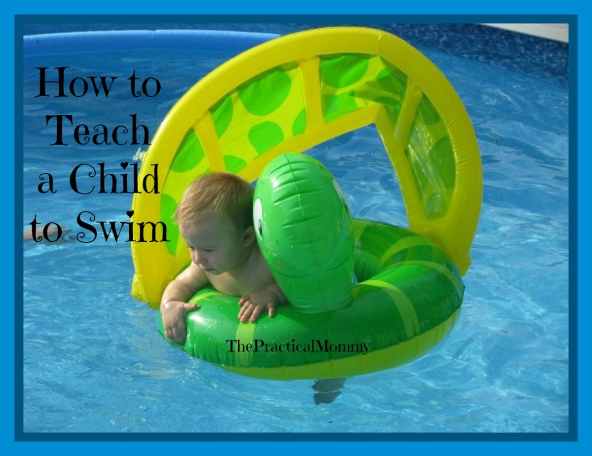 Swimming tip: Always be near a child who is using a flotation device!