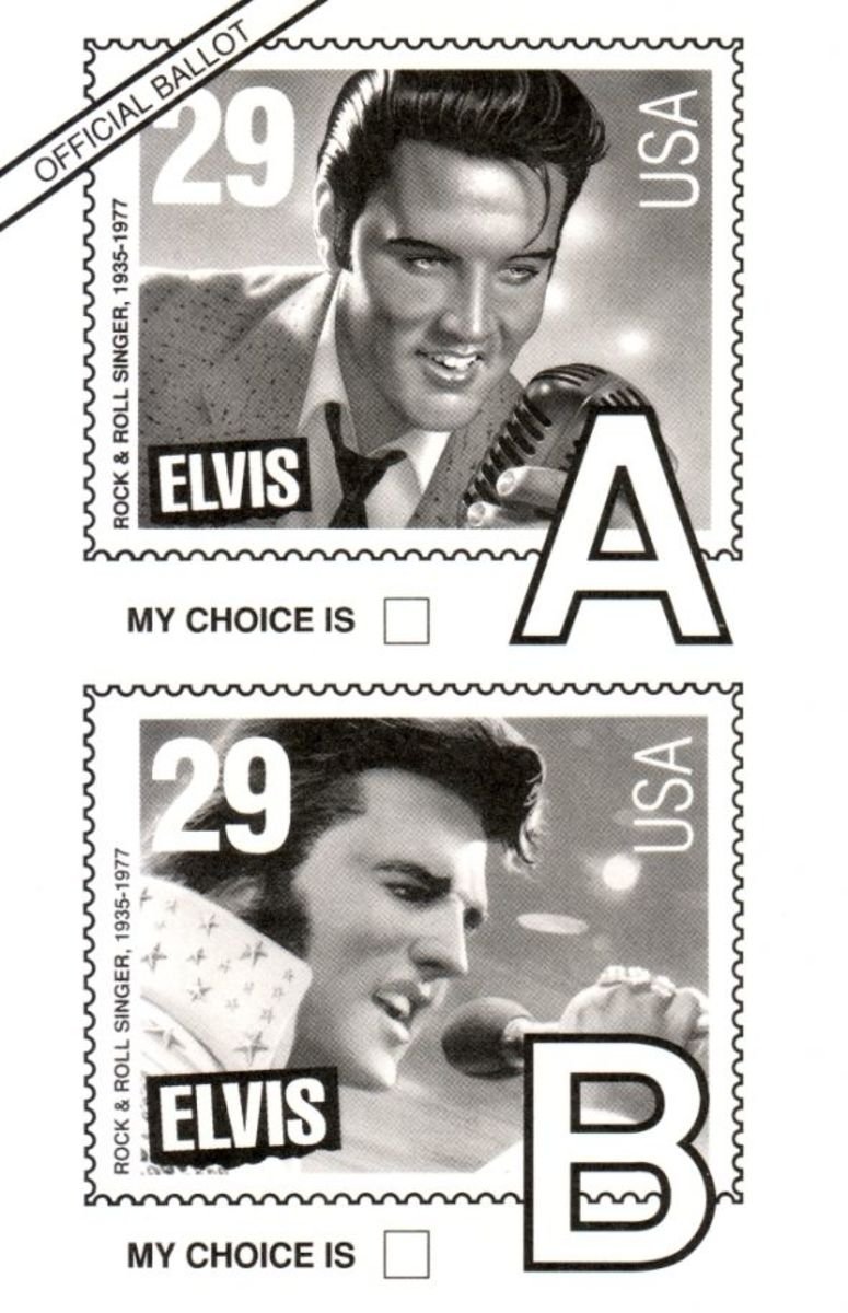 Vintage 1992 Elvis Ballot postcard
