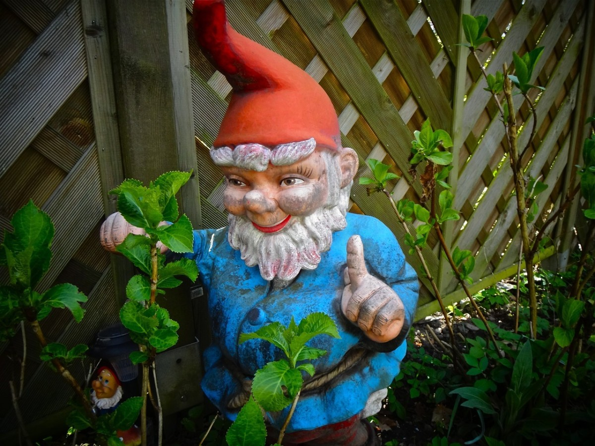 Garden Gnome: Image by tomwieden from Pixabay