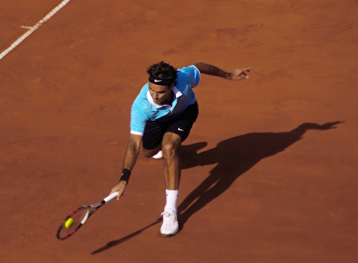 Roger Federer: Image by roby0059 from Pixabay