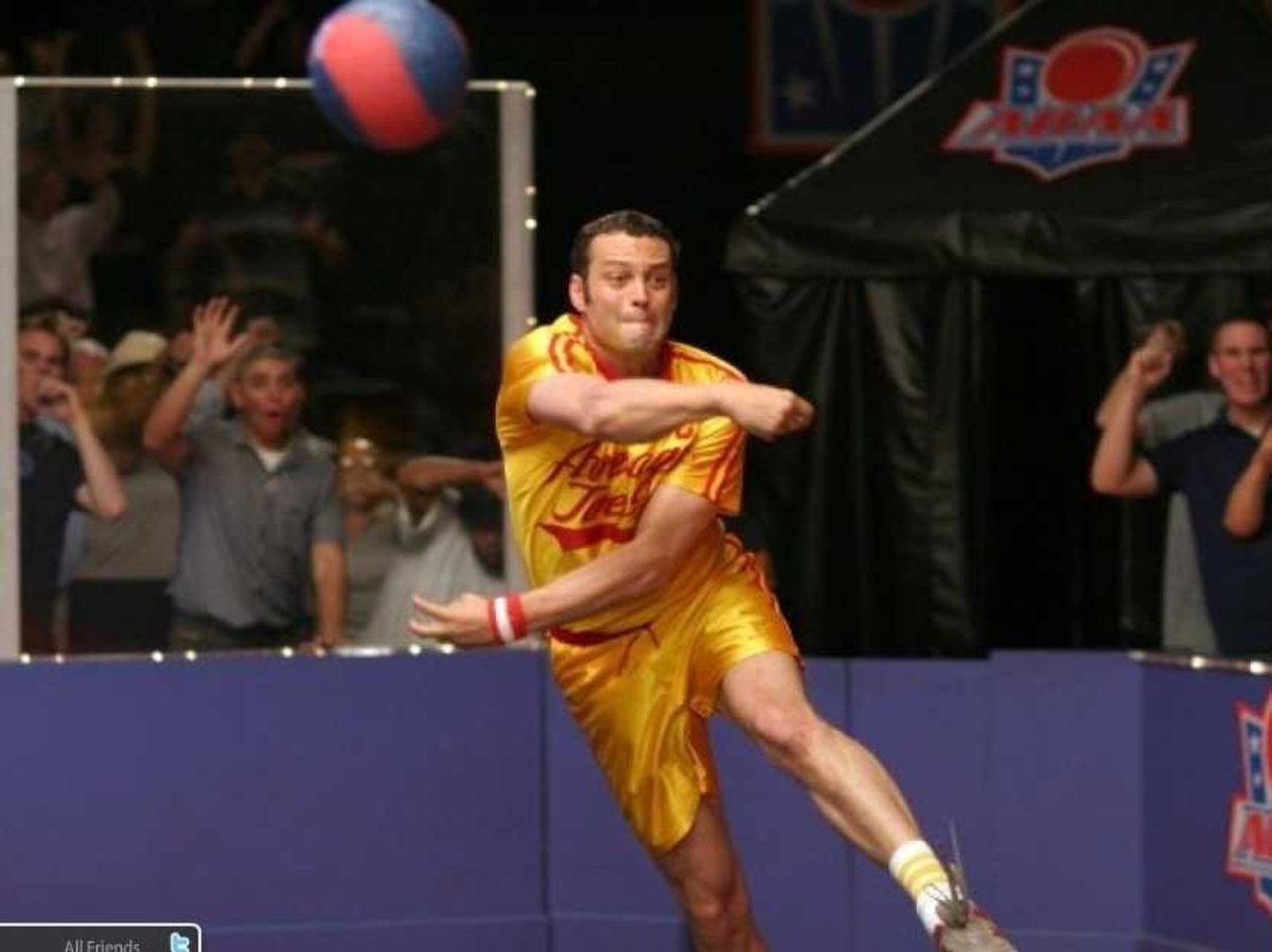 Throwing Dodgeball During Game