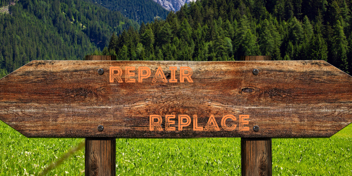 Whether you should repair or replace essentially comes down to whether the estimated repair cost is more than 50% of the current value of the appliance—if so, then you may be better served by replacing it.