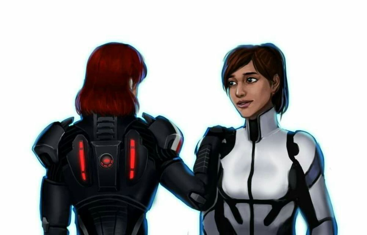 Fanart of Shepard and Ryder.