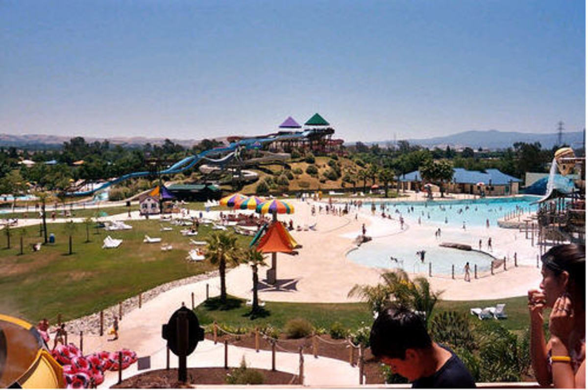 Raging waters in CA