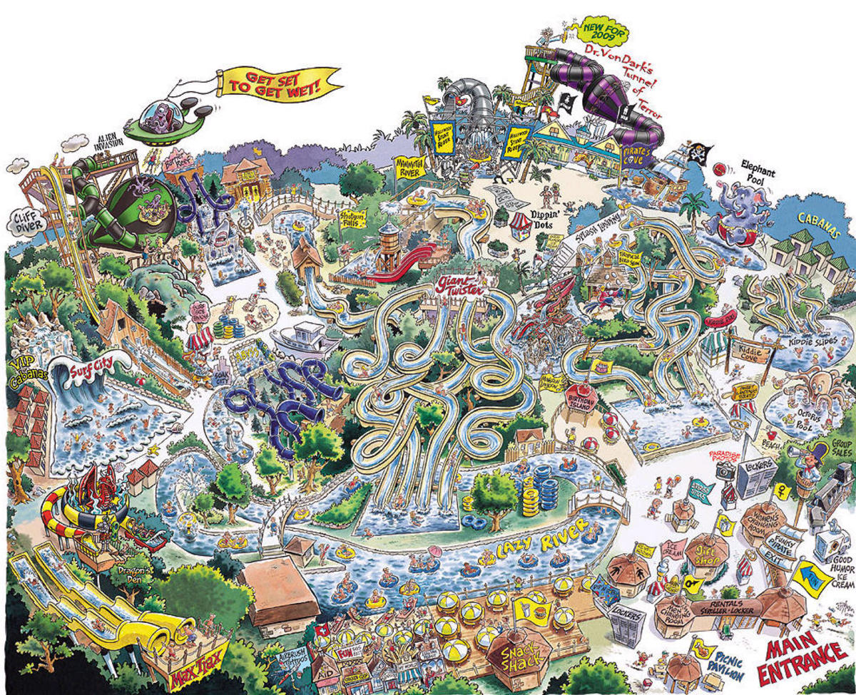 Splish Splash water park map