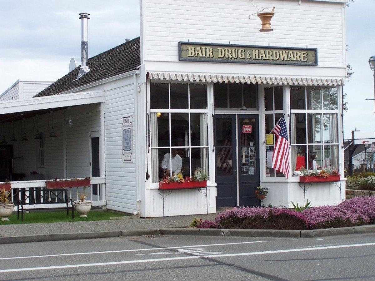 Grandpa owned Bair Drug & Hardware in town.
