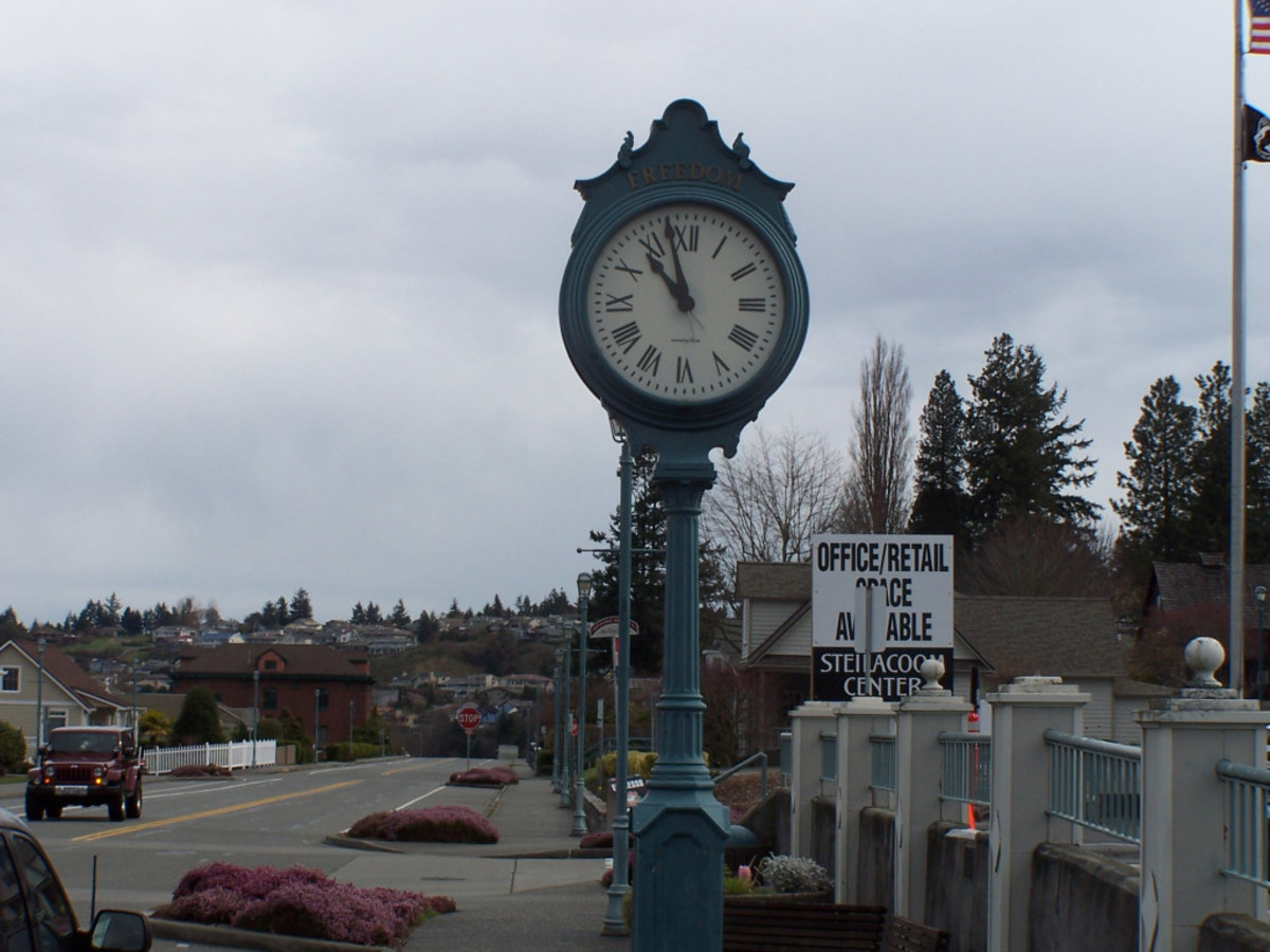 The town clock read 10:57 and I was expected at 11:00 to help with the meal preparations.