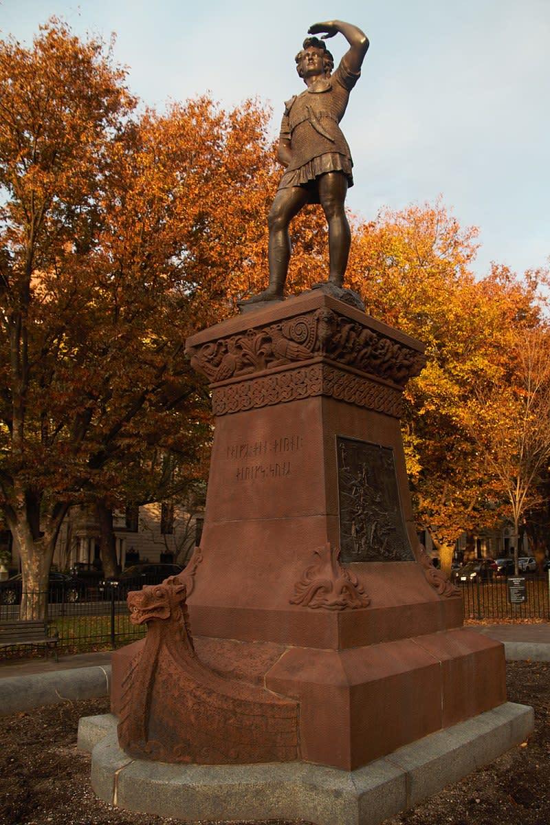 1887 Boston Statue of Leif Erikson