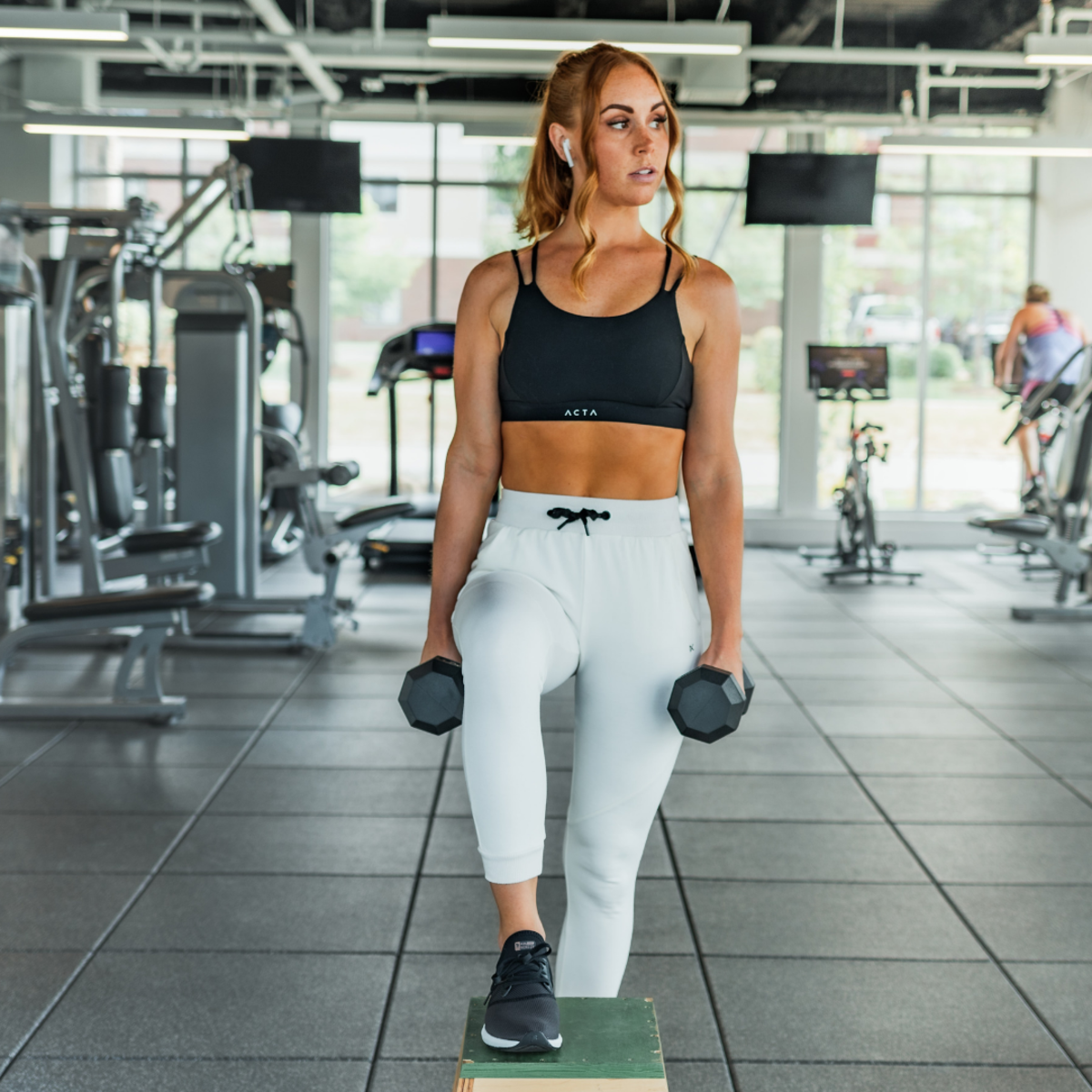 Don't stare at girls while they're working out—they came to the gym to exercise, not to be creeped on by strange men.