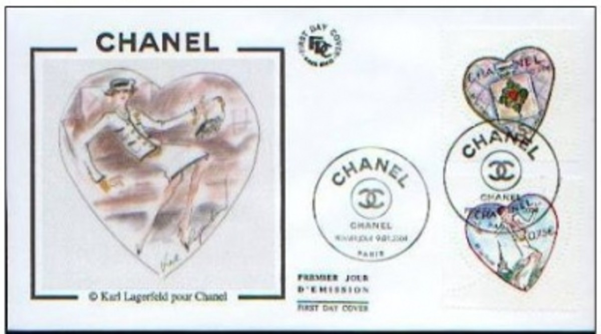 France Valentine stamps: Chanel FDC