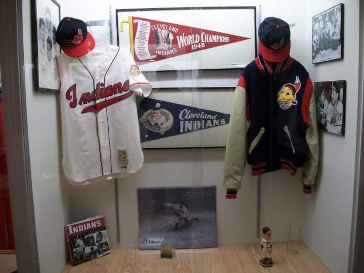 Though Bob Feller wasn't as dominating after the Cleveland Indians won the 1948 World Series (above is a display of championship memorabilia seen at the Bob Feller Museum), he had one last hurrah with a fine season in 1951.
